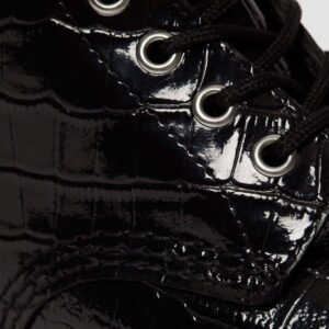 Dr. Martens 1460 Crocodile Print Black Patent 26262001 6 1