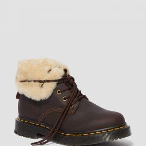 Dr. Martens 1460 Wintergrip Brown Snowplow Faux Fur 24014201 3 1