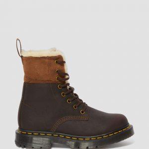 Dr. Martens 1460 Wintergrip Brown Snowplow Faux Fur 24014201 6 1
