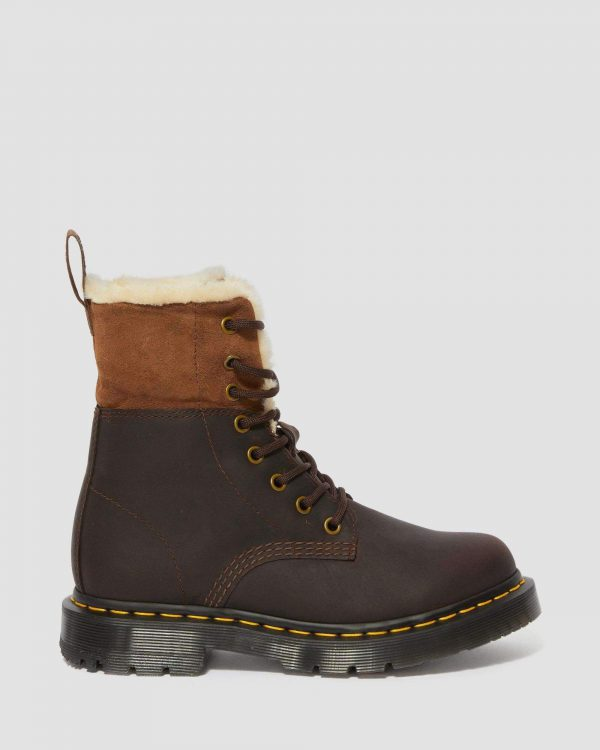 Dr. Martens Kolbert Wintergrip Dark Brown Snowplow 24014201