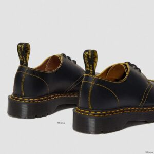 Dr. Martens 1461 Bex Double Stitch Black Yellow Smooth Slice 25951032 4 1