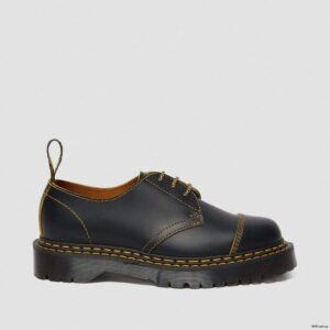 Dr. Martens 1461 Bex Double Stitch Black Yellow Smooth Slice 25951032 5 1