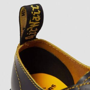 Dr. Martens 1461 Bex Double Stitch Black Yellow Smooth Slice 25951032 6 1