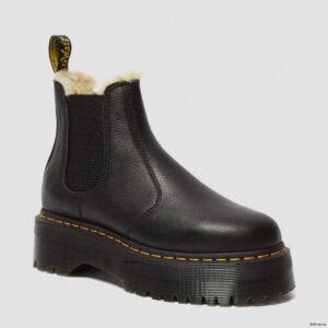 Dr. Martens 2976 Black Pisa Faux Fur 25635001 1 1