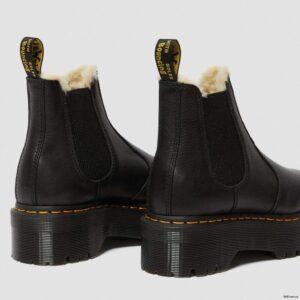 Dr. Martens 2976 Black Pisa Faux Fur 25635001 4 1
