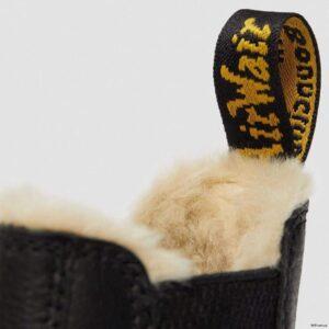 Dr. Martens 2976 Black Pisa Faux Fur 25635001 6 1