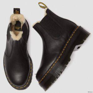Dr. Martens 2976 Black Pisa Faux Fur 25635001 8 1