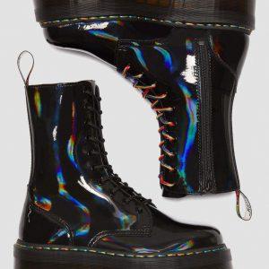 Dr. Martens Jadon Hi Black Rainbow Patent 24668001 7 1