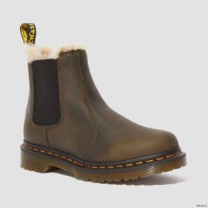 Dr. Martens Leonore Olive Burnished Wyoming 24988355 0 1