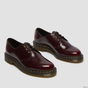 Dr. Martens Vegan 1461 Cherry Red Oxford Rub Off Shoes 14046601 4 1