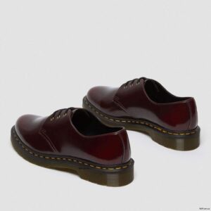 Dr. Martens Vegan 1461 Cherry Red Oxford Rub Off Shoes 14046601 5 1