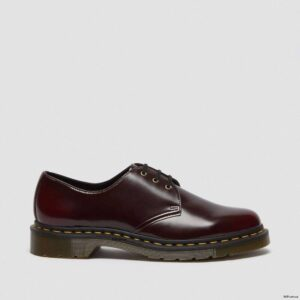 Dr. Martens Vegan 1461 Cherry Red Oxford Rub Off Shoes 14046601 6 1
