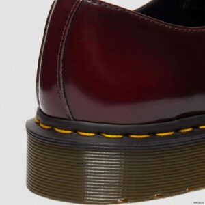 Dr. Martens Vegan 1461 Cherry Red Oxford Rub Off Shoes 14046601 7 1